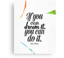 Walt Disney quote print  Canvas Print
