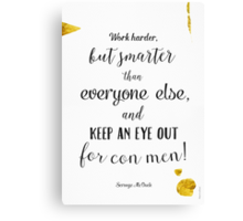 Scrooge McDuck quote Canvas Print