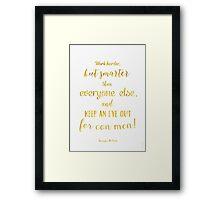 Scrooge McDuck quote Golden Framed Print