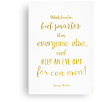 Scrooge McDuck quote Golden Canvas Print