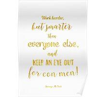 Scrooge McDuck quote Golden Poster