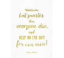Scrooge McDuck quote Golden Photographic Print