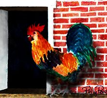 Barnyard Rooster by Polly Peacock