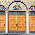 The doors of St Demetrios-Greek Orthodox Church by henuly1
