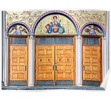 The doors of St Demetrios-Greek Orthodox Church Poster
