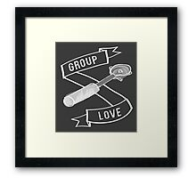 Group Love - White and Grey Edition Framed Print