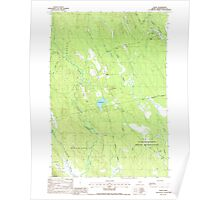 Maine USGS Historical Map Waite 103069 1988 24000 Poster