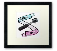 Group Love - Tri Colour Edition Framed Print