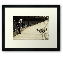 I'm Takin' the Bus! Framed Print