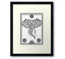 Henna Elephant Framed Print