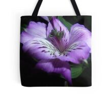 Purple Flora Tote Bag