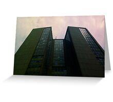 Big City Skyline........the pastel set  # four Greeting Card