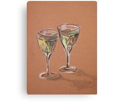 Two Glasses of White Canvas Print