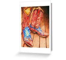 Sendra Cowboy boots Greeting Card