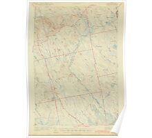Maine USGS Historical Map Waite 306837 1942 62500 Poster