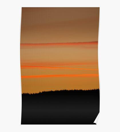 Orange Ribbons in the Sky Poster