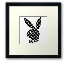 Louis Vuitton Playboy Bunny Framed Print