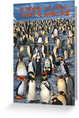 My Penguin Collection Escaped to Antarctica by Donna Catanzaro