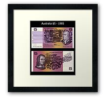 Australia $5 - 1985 Framed Print