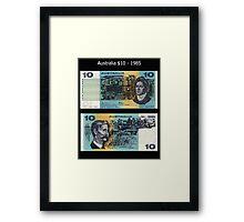 Australia $10 - 1985 Framed Print
