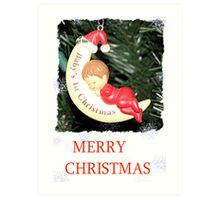 CHRISTMAS CARD-BABY`S FIRST CHRISTMAS #1 Art Print