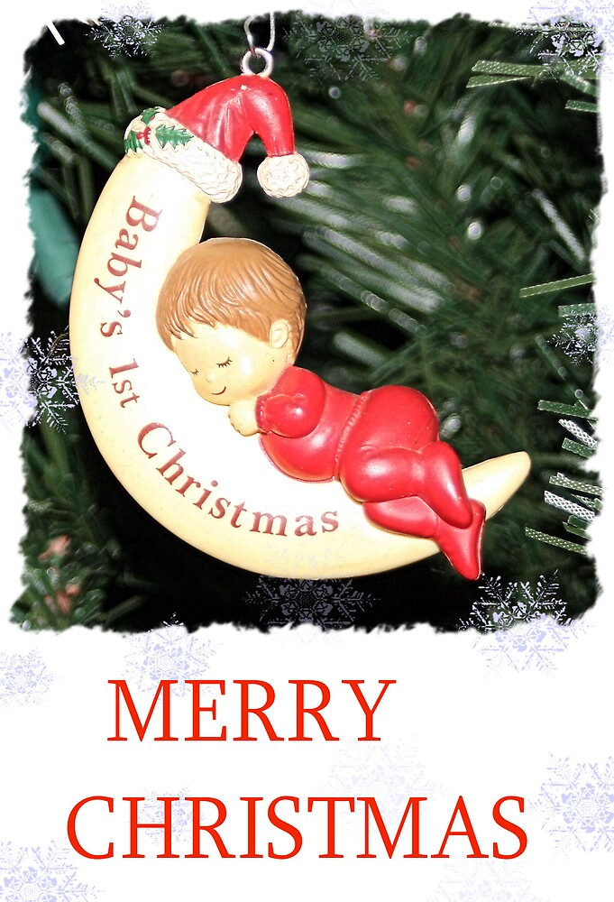 CHRISTMAS CARD-BABY`S FIRST CHRISTMAS #1 by BOLLA67
