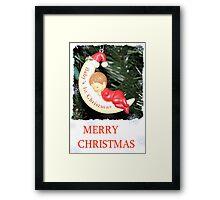 CHRISTMAS CARD-BABY`S FIRST CHRISTMAS #1 Framed Print