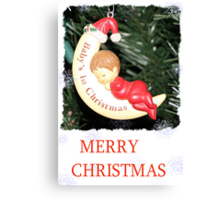 CHRISTMAS CARD-BABY`S FIRST CHRISTMAS #1 Canvas Print