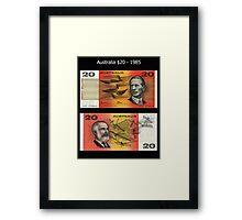 Australia $20 - 1985 Framed Print