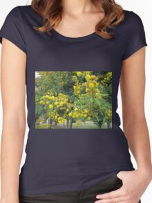 Thorn tree blossoms Women's Fitted Scoop T-Shirt