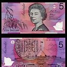 Australia $5 - 1995 by Robert Abraham