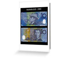 Australia $10 - 1993 Greeting Card