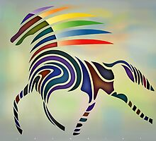 Flaming Horse (2008) by Bernd Wachtmeister