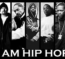 I Am Hiphop B/W by Manoley