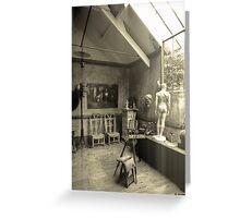 Workplace Rodin Greeting Card
