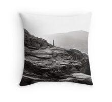 where cornish slate meets the sea Throw Pillow