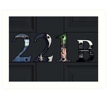 SuperWhoLock Important Things Within 221B Art Print