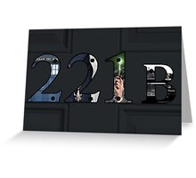 SuperWhoLock Important Things Within 221B Greeting Card
