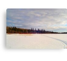 Across The Frozen Lake. Canvas Print