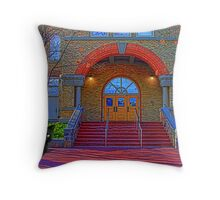 Steps Of Old Main Throw Pillow