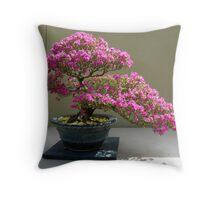 Bonsai Azalea Throw Pillow