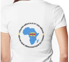 africa team Womens Fitted T-Shirt