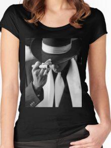 Jay-z B/W Women's Fitted Scoop T-Shirt