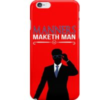 "Kingsman: The Secret Service - Galahad ""Manners Maketh Man"" iPhone Case/Skin"