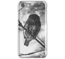 Owl in the Pixel Snow iPhone Case/Skin
