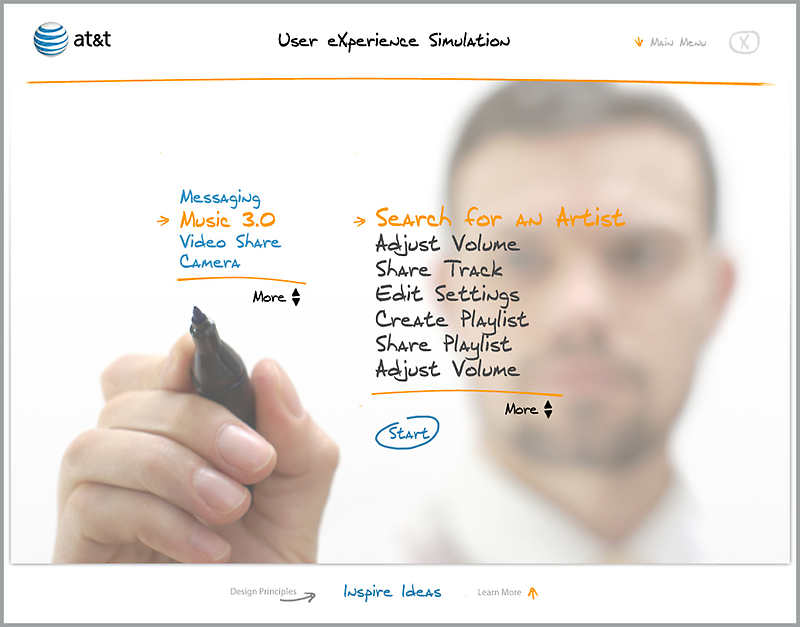 at&t user eXperience by graphicsurf