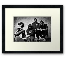 Black Hippy B/W Framed Print