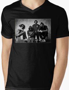 Black Hippy B/W Mens V-Neck T-Shirt