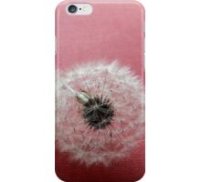 Puffballs on Red Paper iPhone Case/Skin
