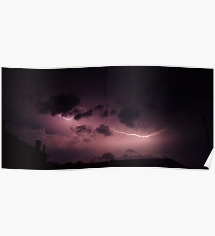 Electric Clouds Poster